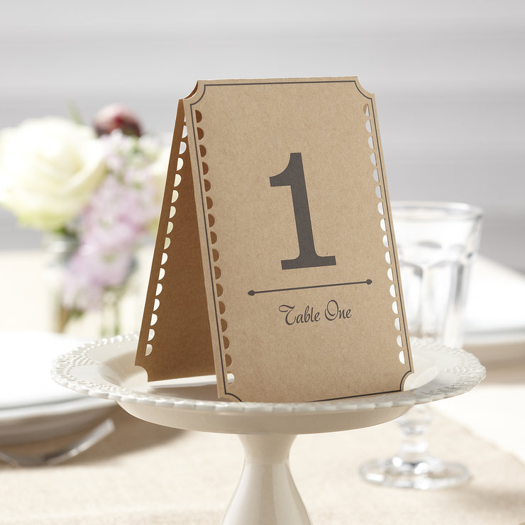 Vintage Affair - Table Numbers by Ginger Ray