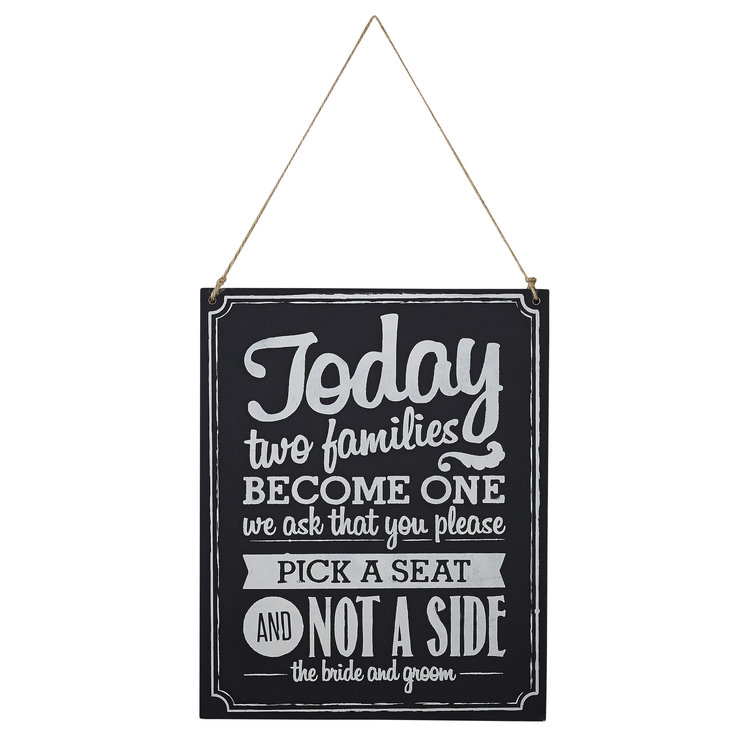 Vintage Affair - Chalkboard Wooden Sign - Two Sides Signs by Ginger Ray