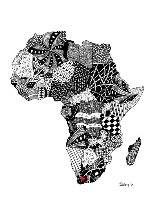 Africa 2 - A4 by chilli lane living