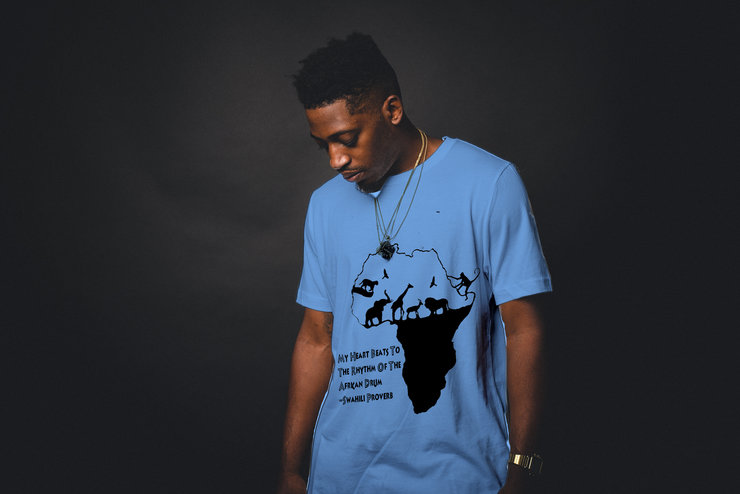 African Wildlife Silhouette T-Shirt  by Singing Fish Tee's