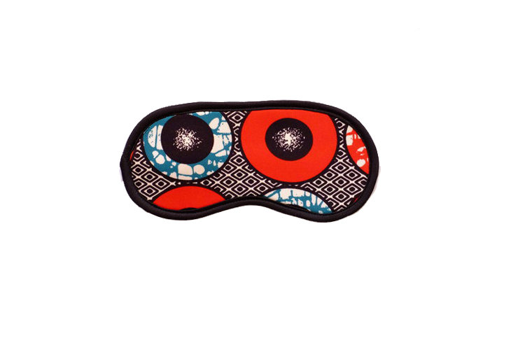 African Inspired Circular Print Eye Mask  by cover me pretty
