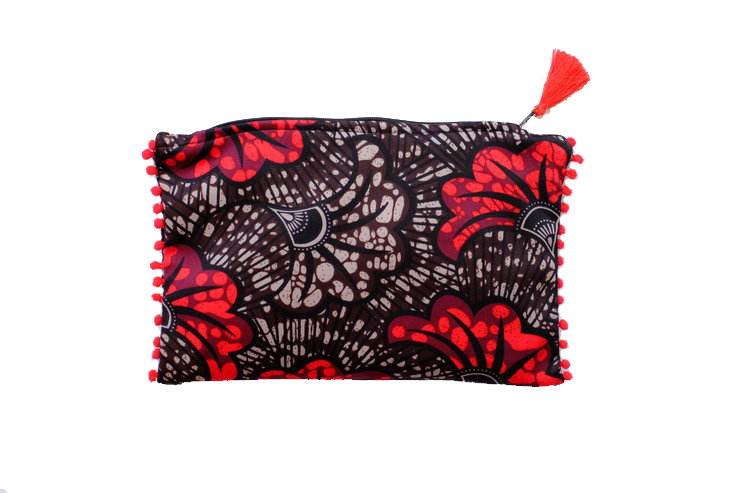 African Inspired Printed Travel Purse  by cover me pretty
