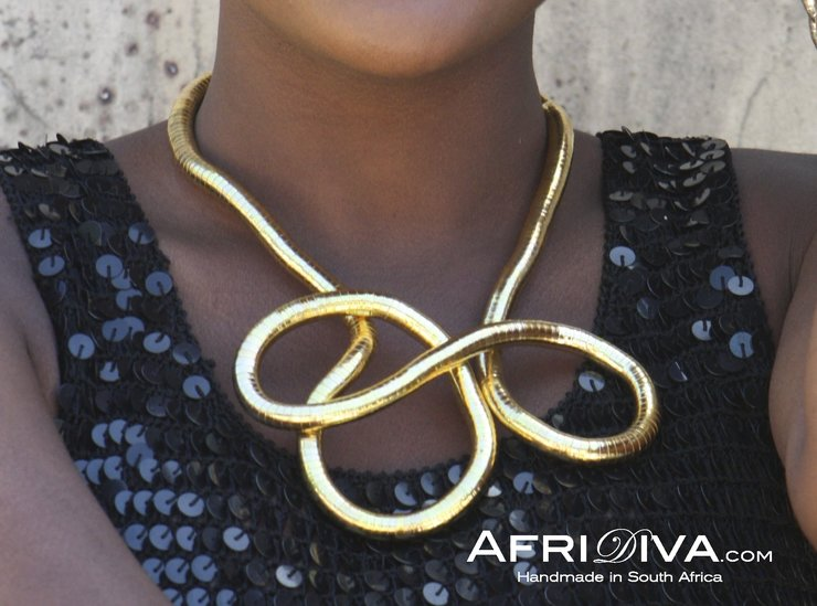"AfriDiva Necklace ""gold"" by AfriDiva - Fashion & Design from Newcomer Designer in Africa!"