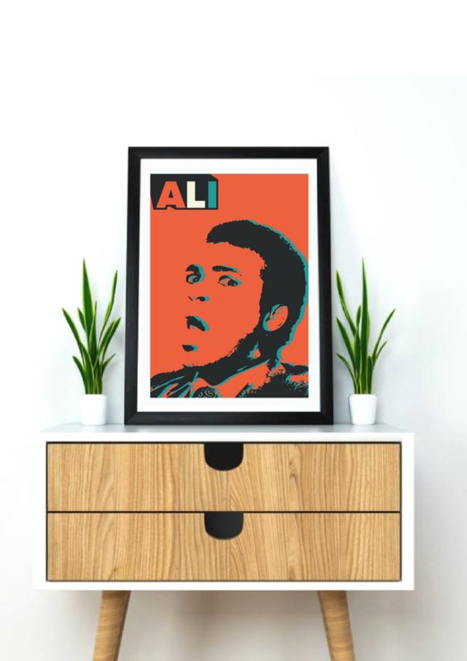 Muhammad Ali digital poster print artwork  - The Man by Fit&Co