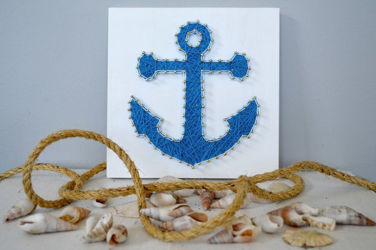 Anchor String Art by Heartstrings and Creative Things