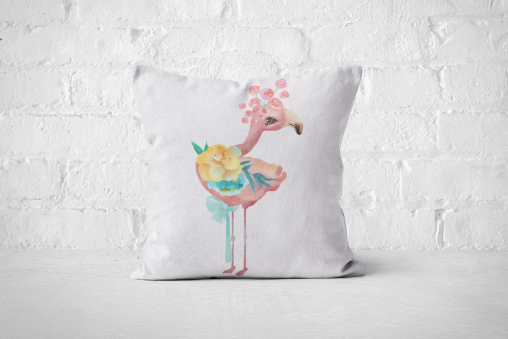 Pretty Letters Pillow Cover - Flamingo by But Why Not