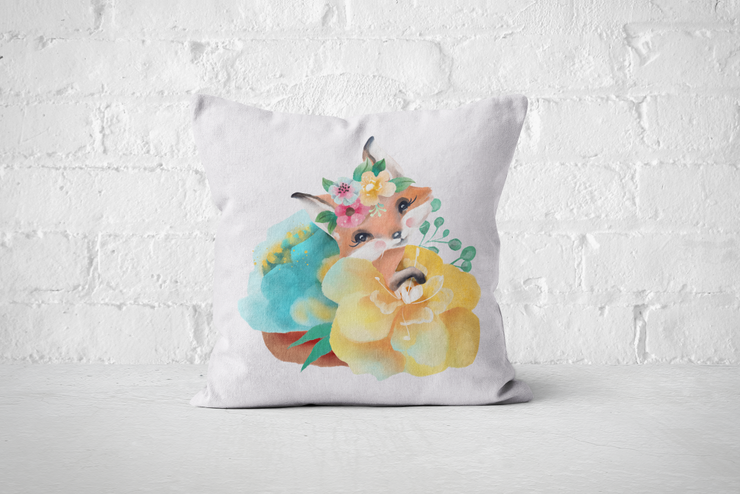 Pretty Letters Pillow Cover - Fox 1 by But Why Not
