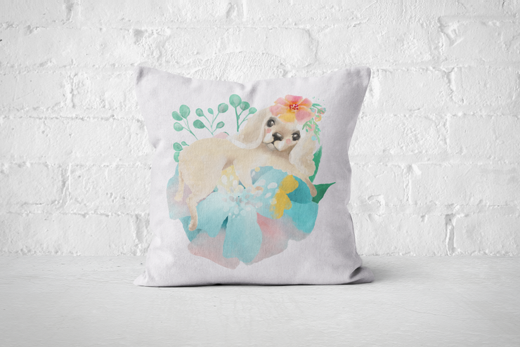 Pretty Letters Pillow Cover - Puppy 1 by But Why Not