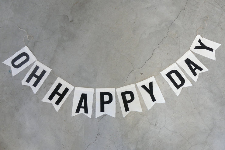 """Oh happy day"" Message bunting by Sew & Such"