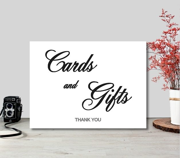 Wedding Cards - Cards and Gifts | Printable Sign  by  ImPrintable | Art