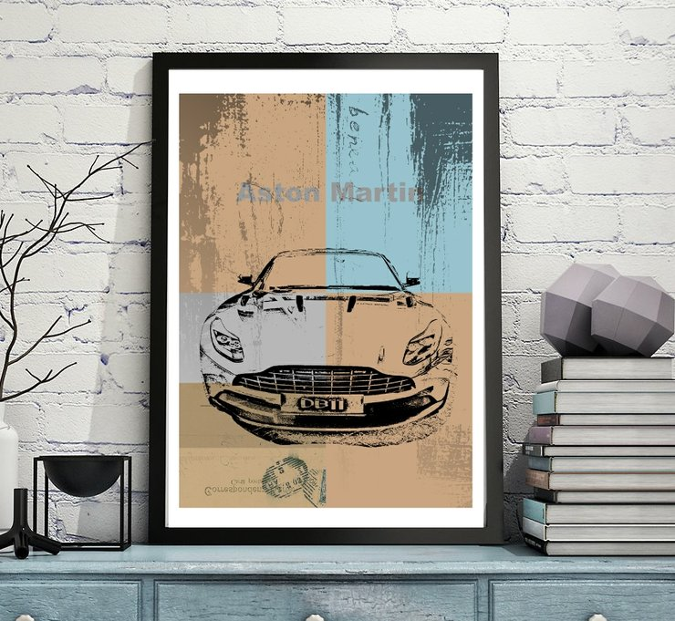 Car Art Print on Paper | Aston Martin DB11 by  ImPrintable | Art