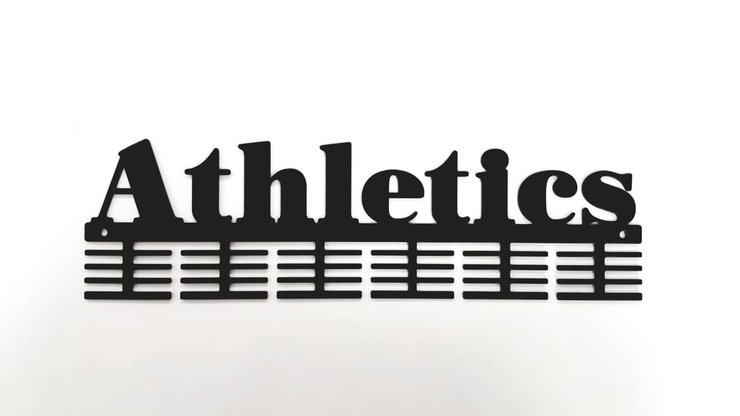 Athletics 48 tier medal hanger in Black by Medal Hanger & Home Décor Specialists - DC Designers