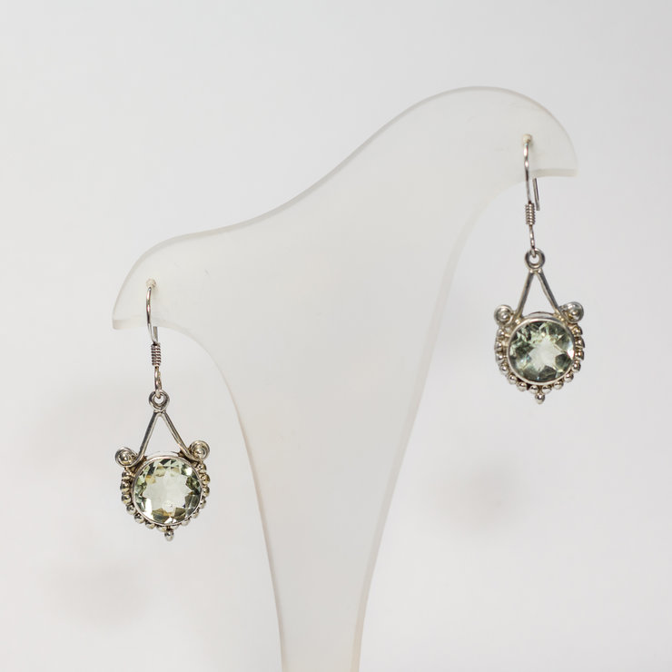 Sterling Silver Aquamarine Earrings By Aztec Jewellery Company