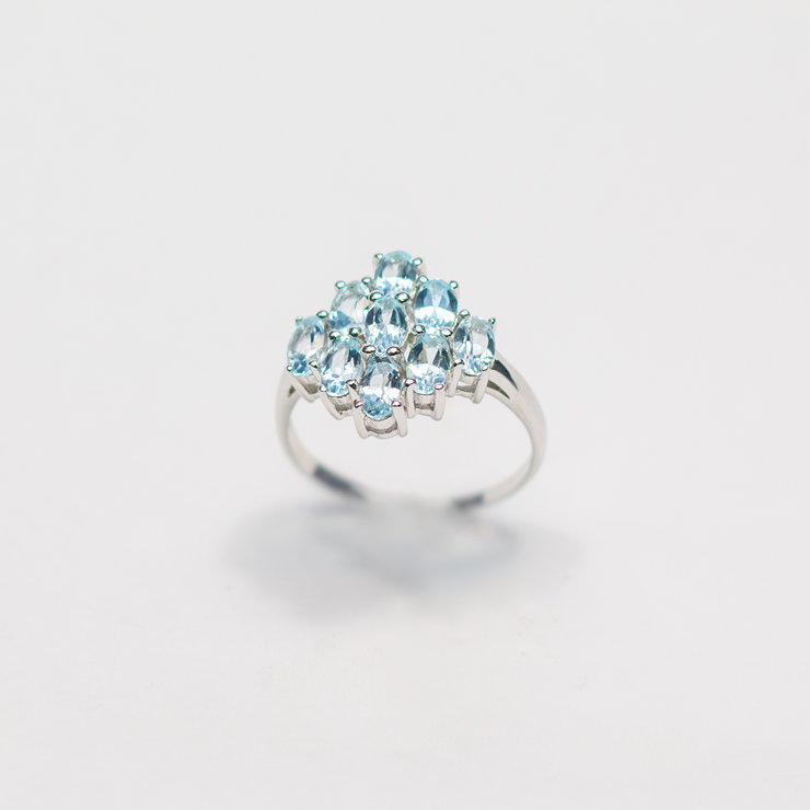 Sterling Silver & Blue Topaz Ring by Aztec Jewellery  Company
