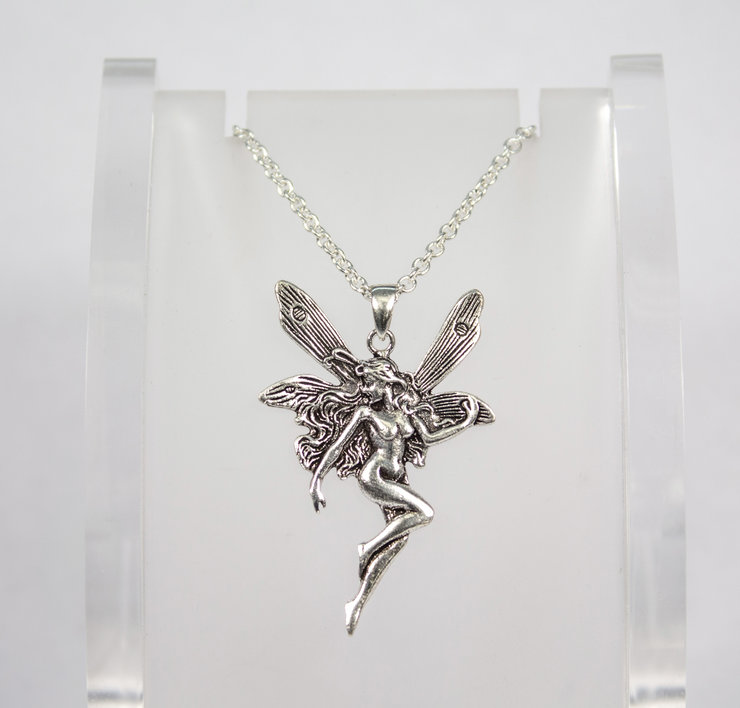 Sterling silver fantasy fairy pendant hello pretty buy design sterling silver fantasy fairy pendant by aztec jewellery company aloadofball Images