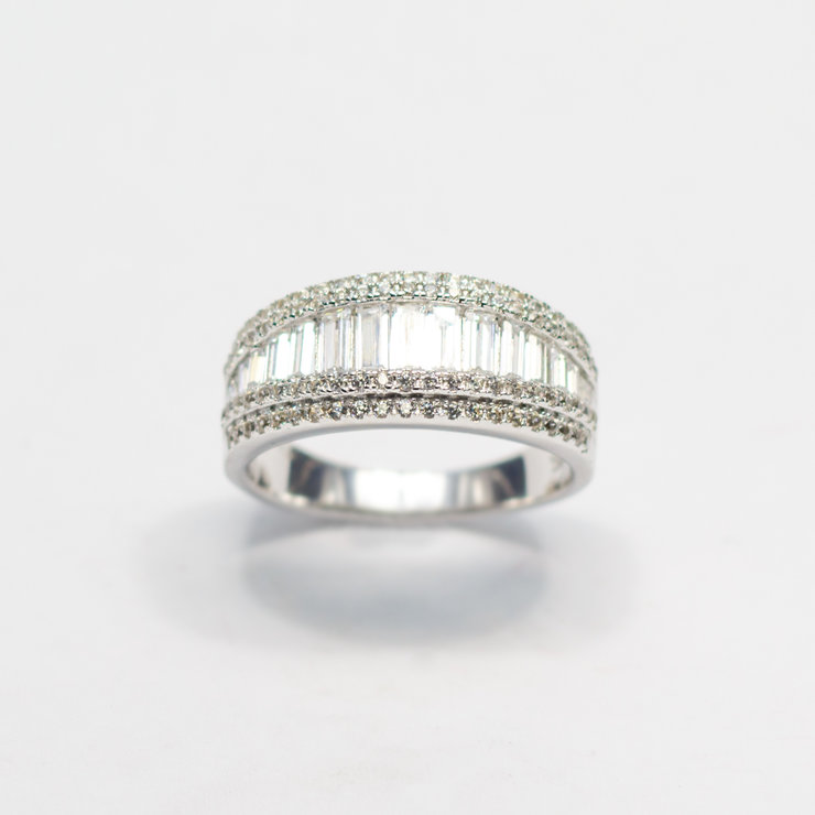 Sterling Silver & Cubic Zirconia Ring by Aztec Jewellery  Company