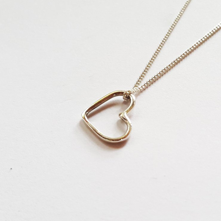LOVE Necklace Silver by Miss H Jewellery Design