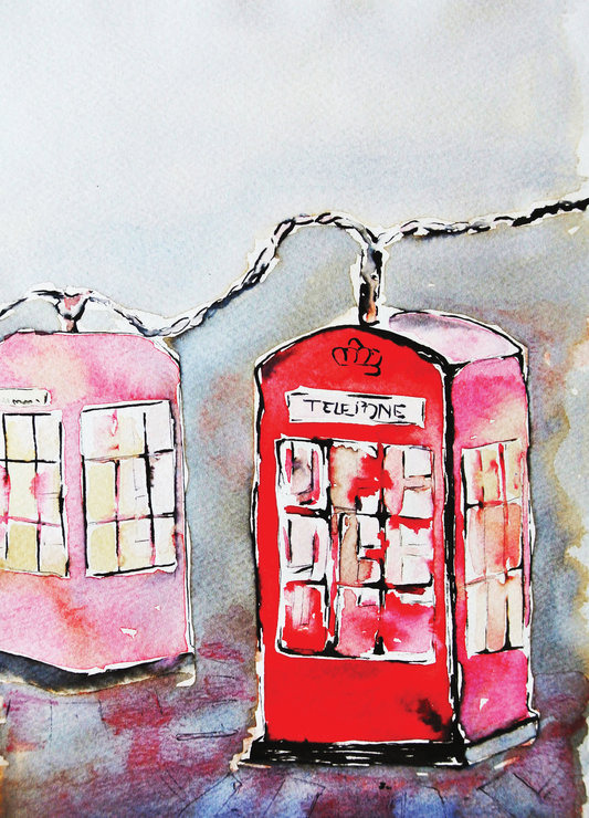 Untitled 4  Painting of old phone-booth
