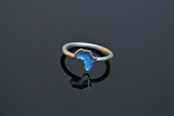 Baby Africa Ring- Turquoise (Sterling Silver) by Duke & Dutch
