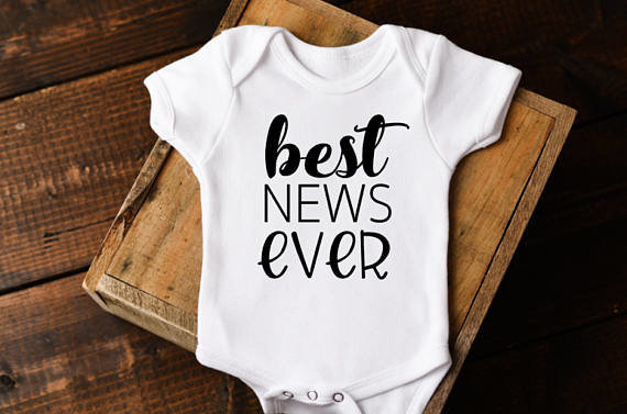 Best News Ever Baby Announcement Pregnancy Reveal Onesie