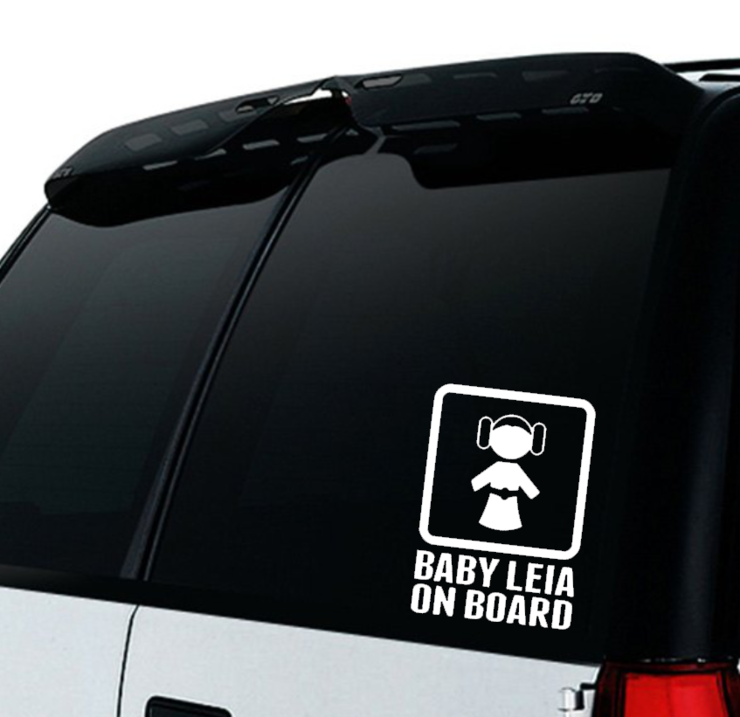 Star Wars Baby on Board Car decal Sticker /BABY LEIA ON BOARD Car Sticker/ Baby on board / Car decal/ Princess Leia baby on board car sticker by Little Lion Cub Boutique