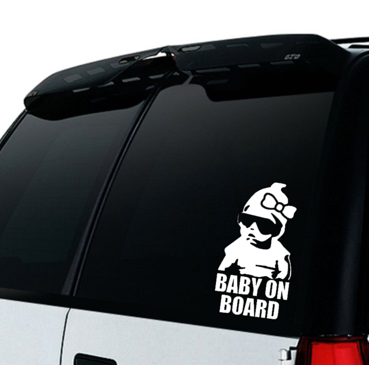 Baby on Board Car decal Sticker / Car Sticker Girl/ Baby on board Girl / Car decal   by Little Lion Cub Studio