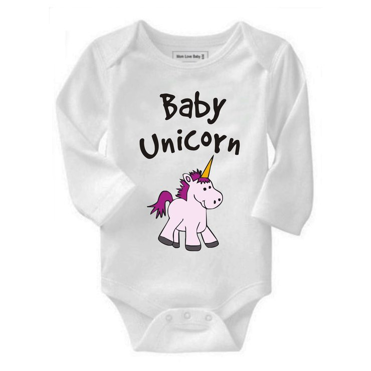 Baby Unicorn Baby Grow by Qtees Africa (Pty)Ltd