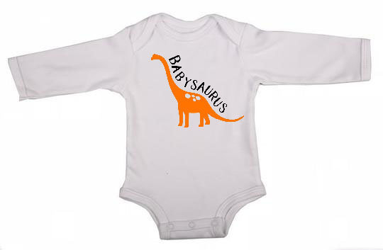 Babysaurus Long Sleeve Babygrow by Skoenlapper Pty Ltd