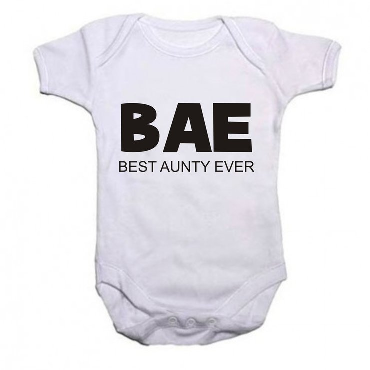 BAE - Best Aunty ever baby grow by Qtees Africa (Pty)Ltd