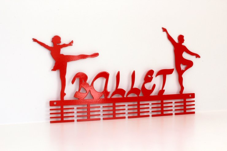 Ballerino - Ballerina 48 tier medal hanger in Red by Medal Hanger & Home Décor Specialists - DC Designers