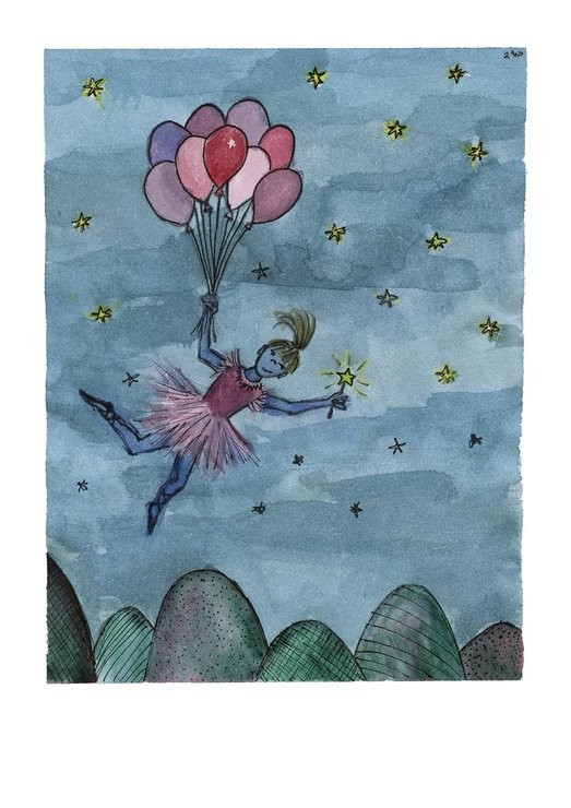 She dreamed she could fly (A4) by Art by Rony