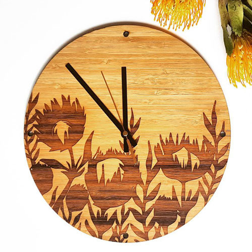 Bamboo Protea Clock by HALLO JANE