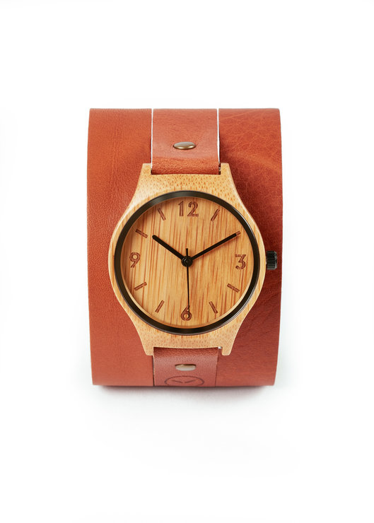 Original Wrap Around  Watch- Tan by Bamboo Revolution