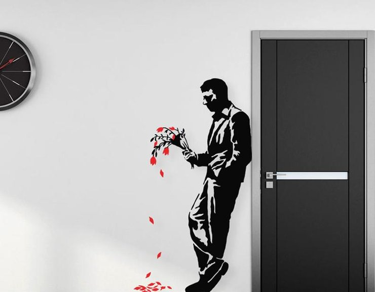Banksy Waiting In Vain Removable Vinyl Wall Decal by Imaging Architects