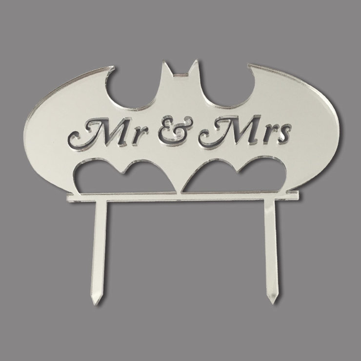 Batman Wedding Cake Topper (wood or acrylic) by Polkadot Box