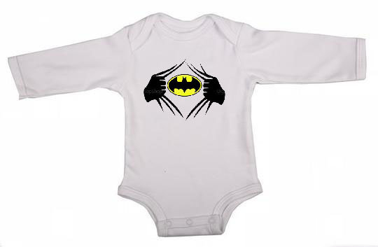Batman Long Sleeve Babygrow by Skoenlapper Pty Ltd