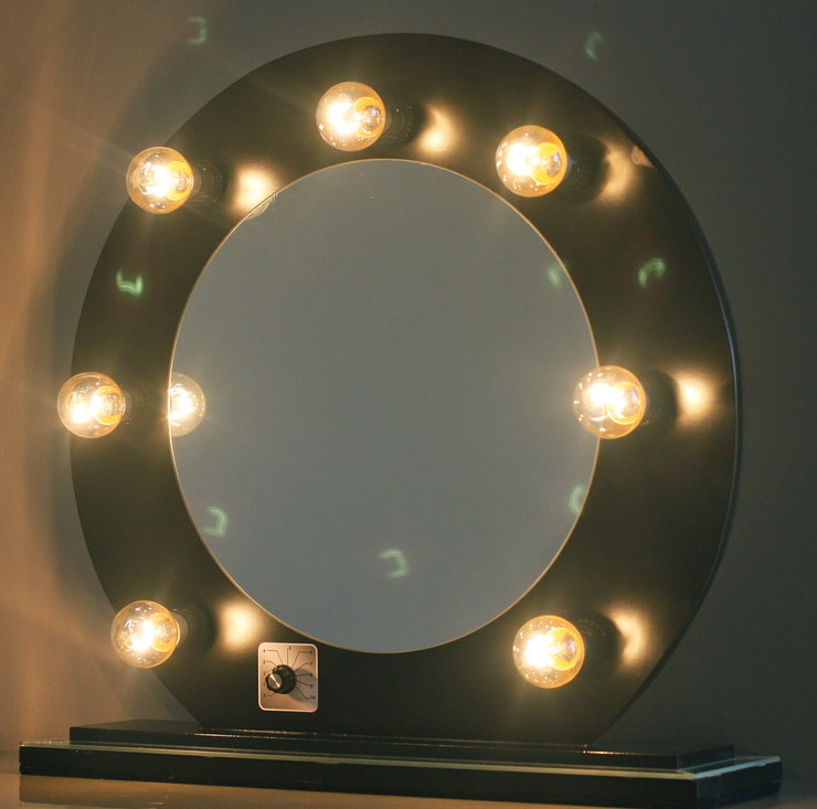 Modern - Hollywood Glam Vanity Mirror Black by Be Beautiful By Katy M