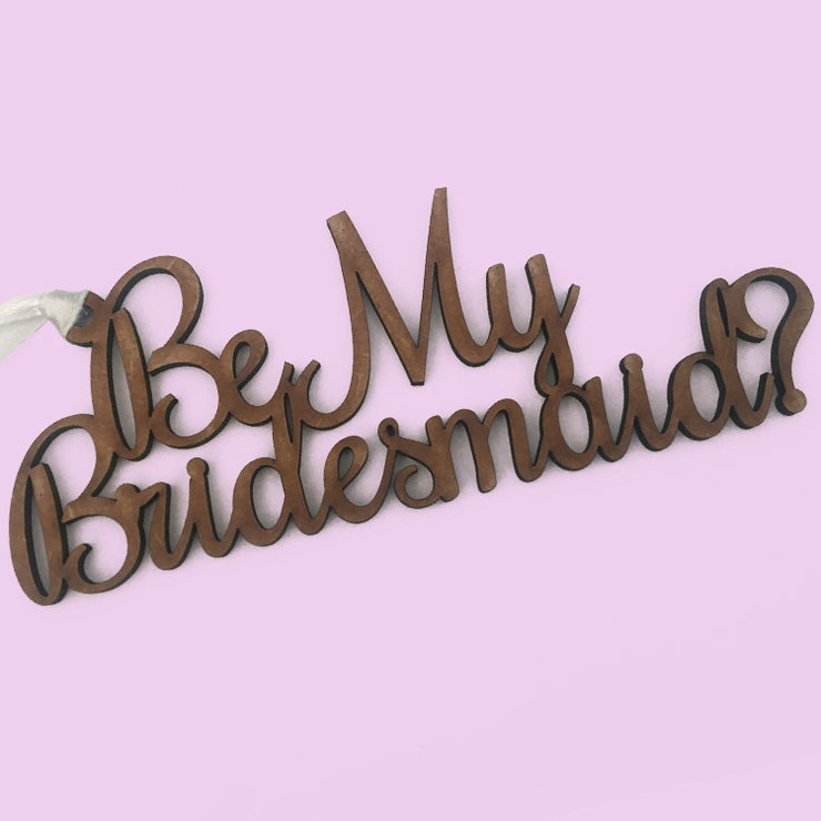Be My Bridesmaid wood tag - Set of 3 (MOH also available) by Polkadot Box