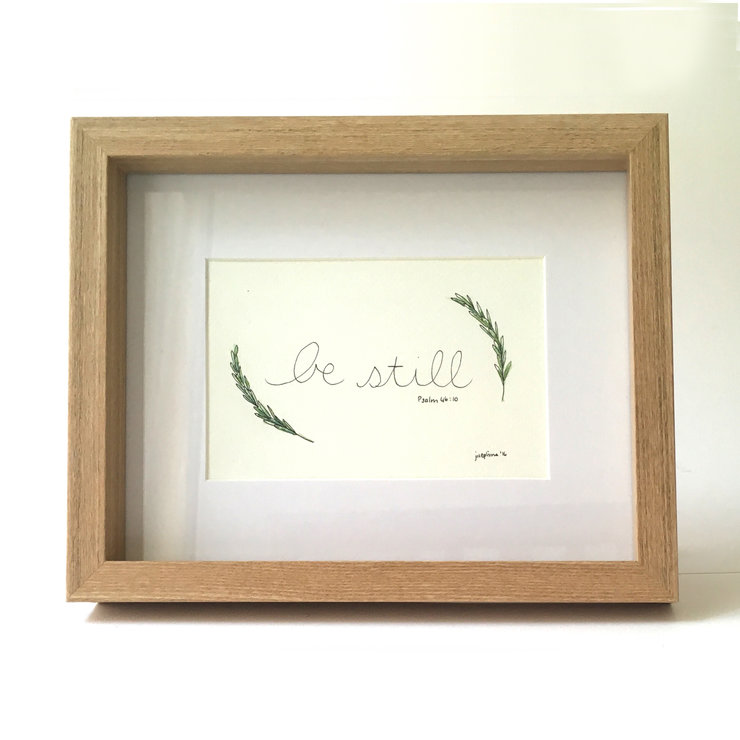 Be Still (Framed print) by Josephine Draws