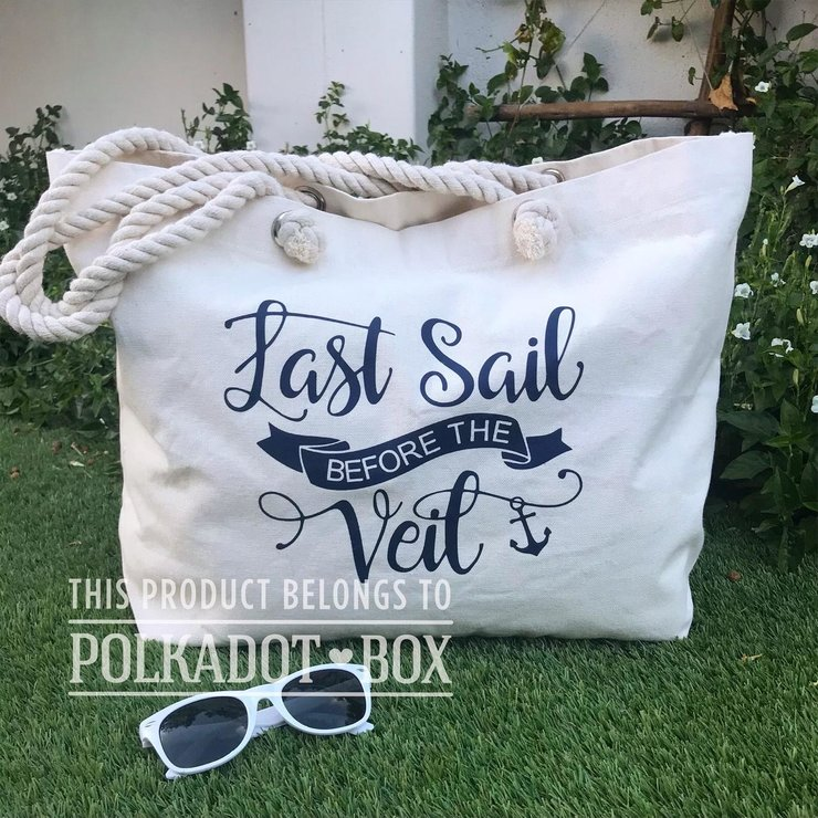 Last sail before the veil Beach Bag by Polkadot Box