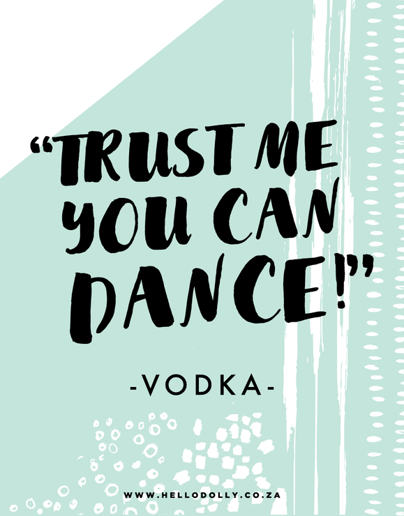 Trust Me You Can Dance Wedding Dance Floor Decal Hello