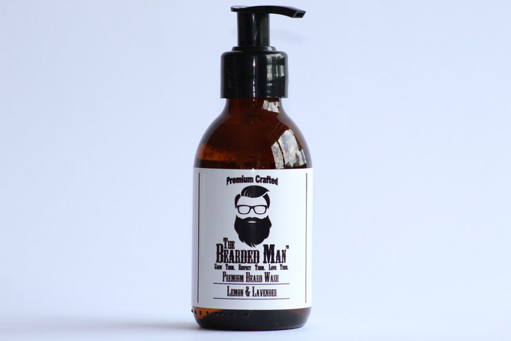 Premium Beard Wash - Lemon & Lavender 150ml by The Bearded Man SA