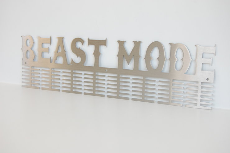 Beast Mode 96 tier medal hanger in Stainless steel Brush Finish by Medal Hanger & Home Décor Specialists - DC Designers