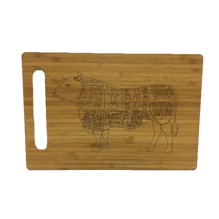 Cow Cutting Board by Miss Magpie