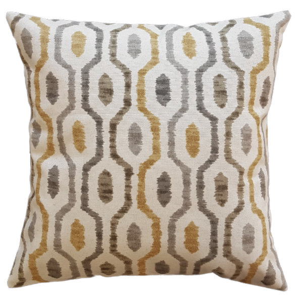 Beige Pillow/cushion cover mustard, beige,brown,grey 50 by Going Dutch In Sa