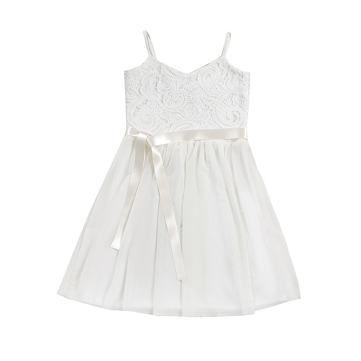 Lil Bud Lace Flower Girl Dress - Ivory by Blackeyed Susan