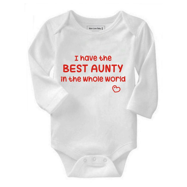 I have the Best Aunty in the whole world baby grow by Qtees Africa (Pty)Ltd