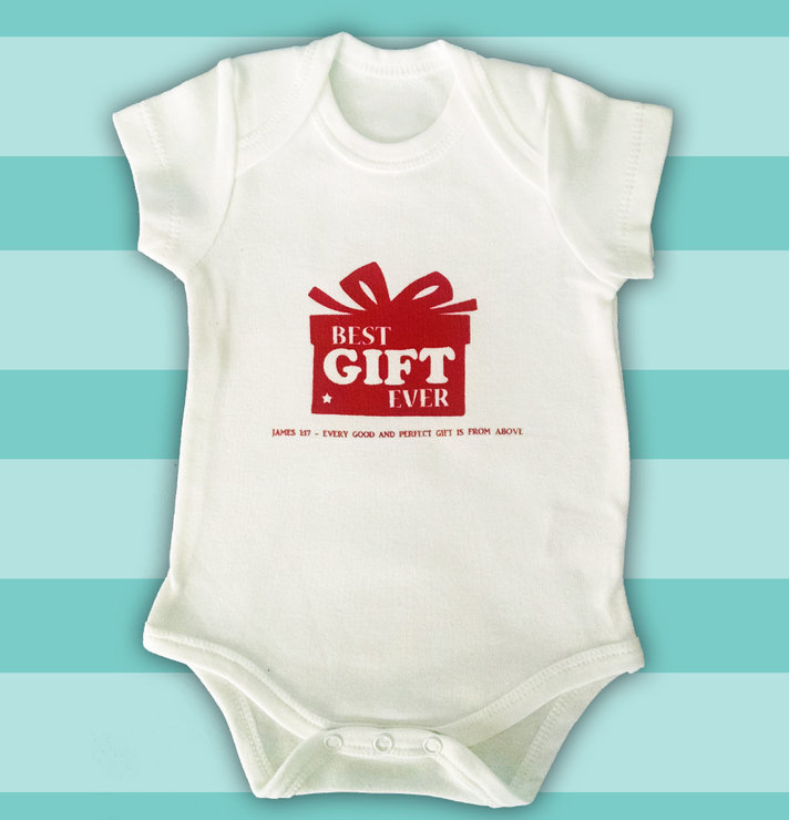Best Gift Vest - James 1:17 (6-12 months) by Fig Tree Babywear