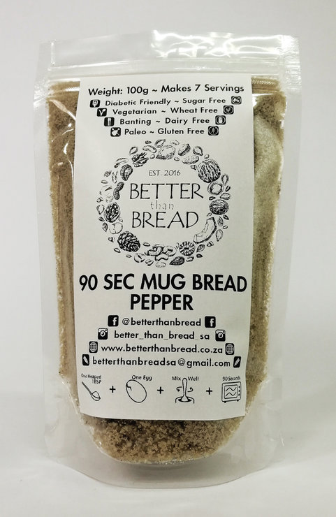 BTB - 90 Second Mug Bread - Pepper & Salt (flavour) by Better Than Bread