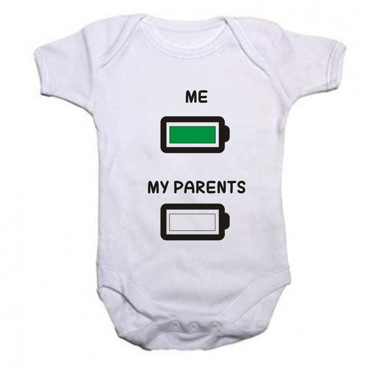Me/ My parents baby grow by Qtees Africa (Pty)Ltd
